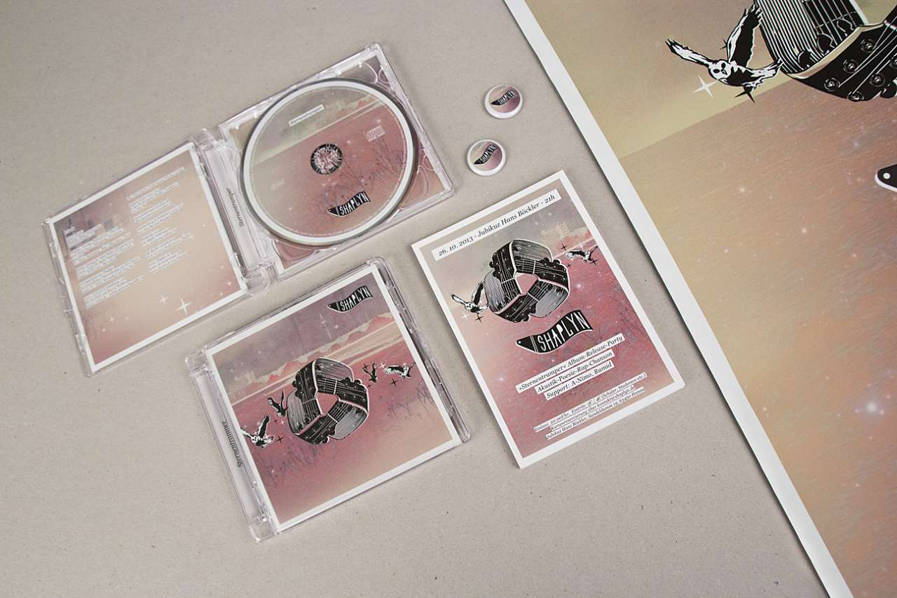 CD-Cover & Booklet, Flyer, Button & Plakat